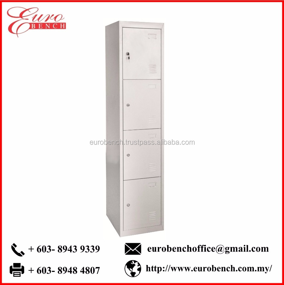 Euro Bench 4 Compartment cheap office metal steel cabinet 4 drawer