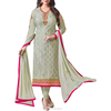 Agreeable Medium sea Green Color Brasso Embroidery Salwar Suit.