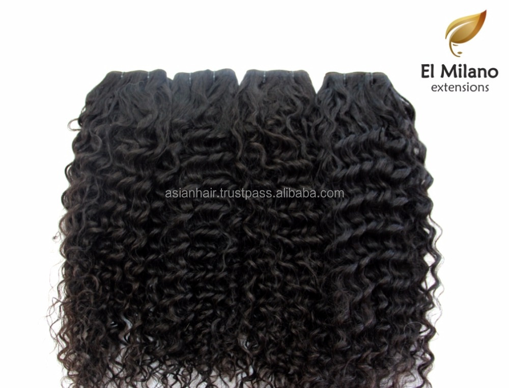 Kinky Curly Hair Extensions Natural Virgin Remy Human Hair