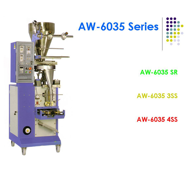 AW 6035 SR - Vertical Form Fill Seal Packaging Machine for Sachet Food Powder Granule Seed