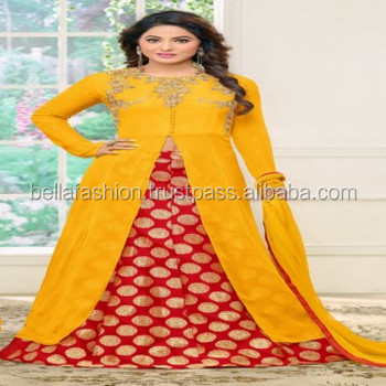 Latest Indian and Pakistani Beautiful Woman Wear Dress Embroidery Designer Straight Suits