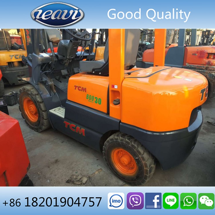 Good quality diesel engine manual used 3ton TCM forklift of tcm 30 forklift