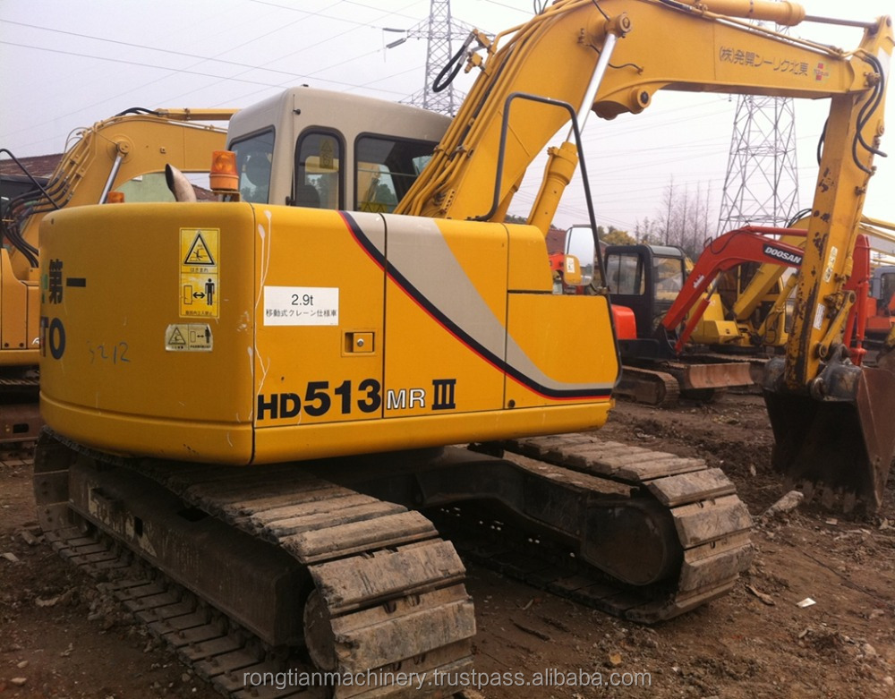 certificated Used big kato 12ton 513MR excavator for sale