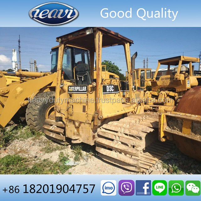 Low price used CAT D3C LGP small bulldozer with angle blade for sale