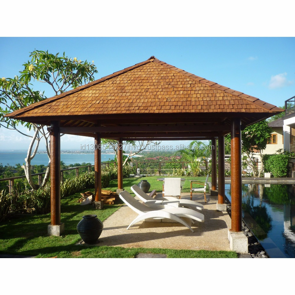 High Quality Balinese Wooden Gazebo For Backyard