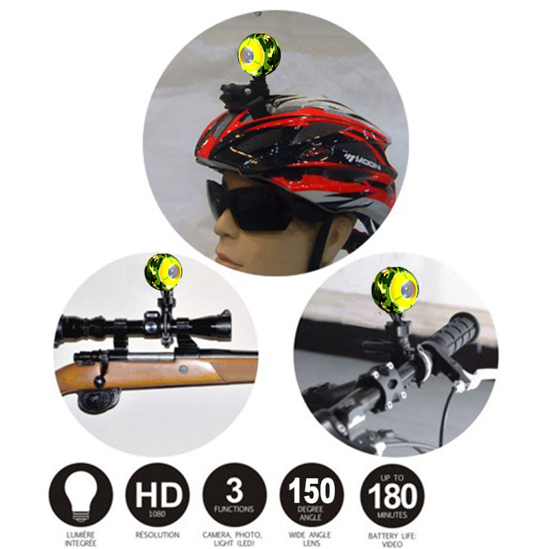 2018 Fashionable Mini Camera floating waterproof Helmet camera