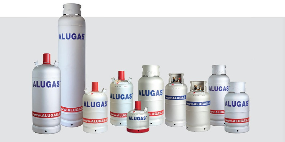 Alugas Asia lightweight refillable LPG Gas Cylinders