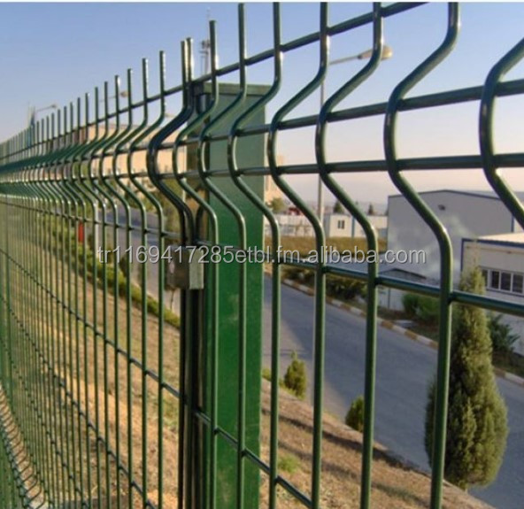 4,5 mm Single Wire PVC Coated Panel Fence - Rot Proof - 2018 Luxury 3D Fences