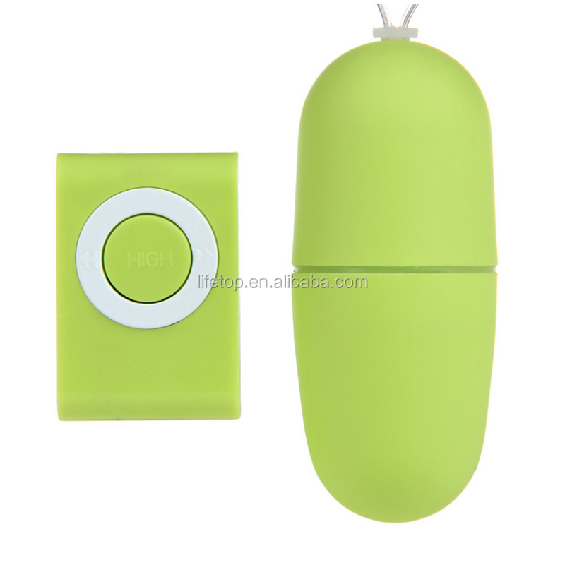 Hot selling MP3 wireless remote control mini bullet egg vibrator for woman body massage