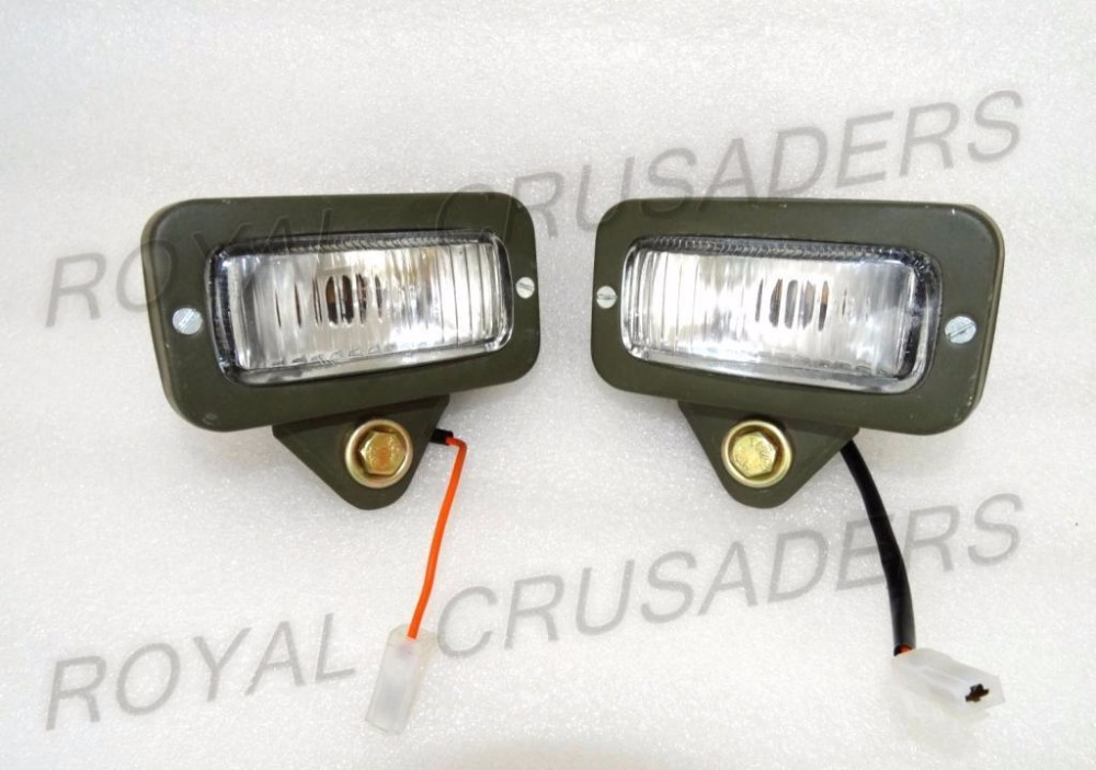 SUITABLE FOR WILLYS JEEP MILITARY FRONT REAR PARKING LIGHT PAIR