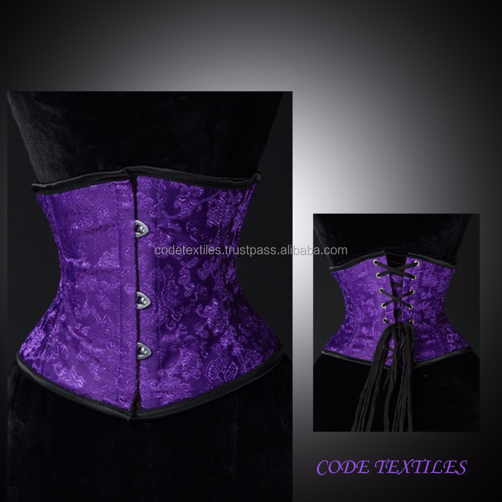 underbust purple Waist Cincher Sport Waist Trainer Women Slimming Body Shaper corsets