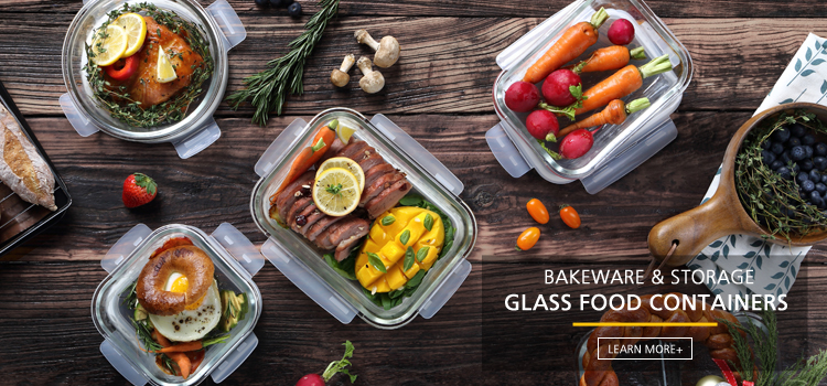 bpa free microwave borosilicate glass lunch food container with lock