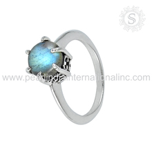 Promotional blue labradorite ring 925 sterling silver gemstone ring indian silver jewelry supplier