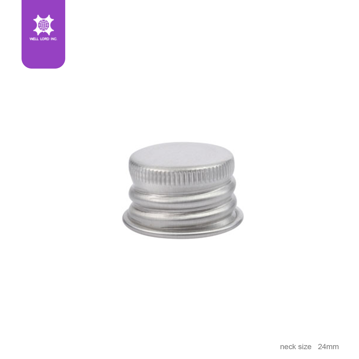Aluminium 24mm plastic convenient  round plastic round head screw cap