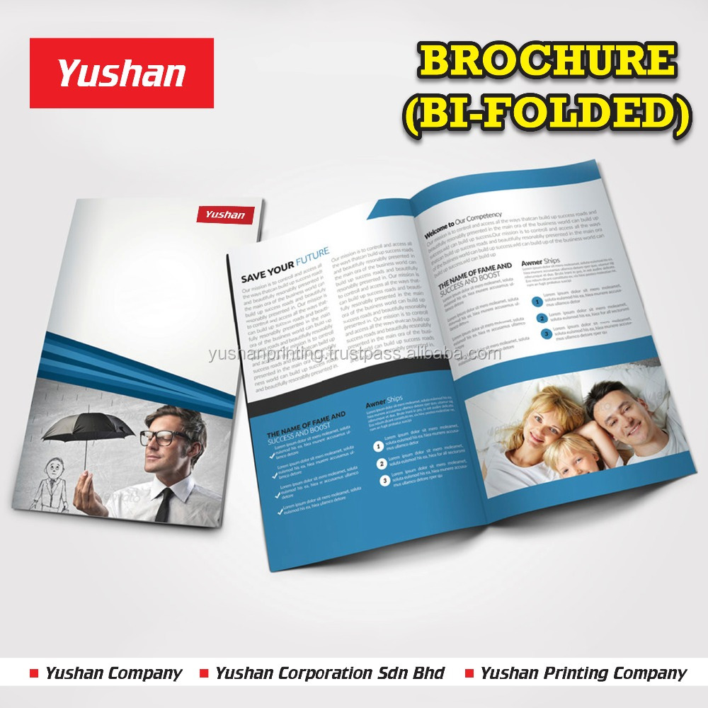 High Quality Bi-Folded Flyer/Brochure/Catalog Printing at Low Price