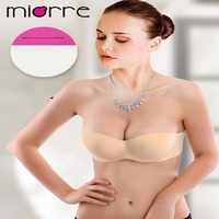 MIORRE OEM WOMEN'S NEW 2017 BRA & UNDERWEAR COLLECTION SELF-ADHESIVE STRAPLESS & BACKLESS NUDE NON PADDED WING BRA
