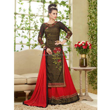 Black Georgette On Net Lehenga Style Suit / Designer Lehenga Choli / Wedding Lehengas Online Shopping