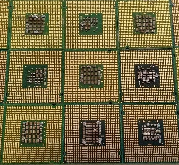 GOLD RECOVERY CPU CERAMIC PROCESSOR SCRAPS AND COMPUTER