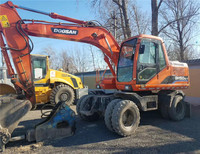 Doosan DH150W-7 Wheel Excavator made in korea with cheap price/good condition