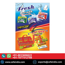 FRESH BREATH CHEWING GUM / BUBBLE GUM WITH 3 DIFFERENT FLAVOURS