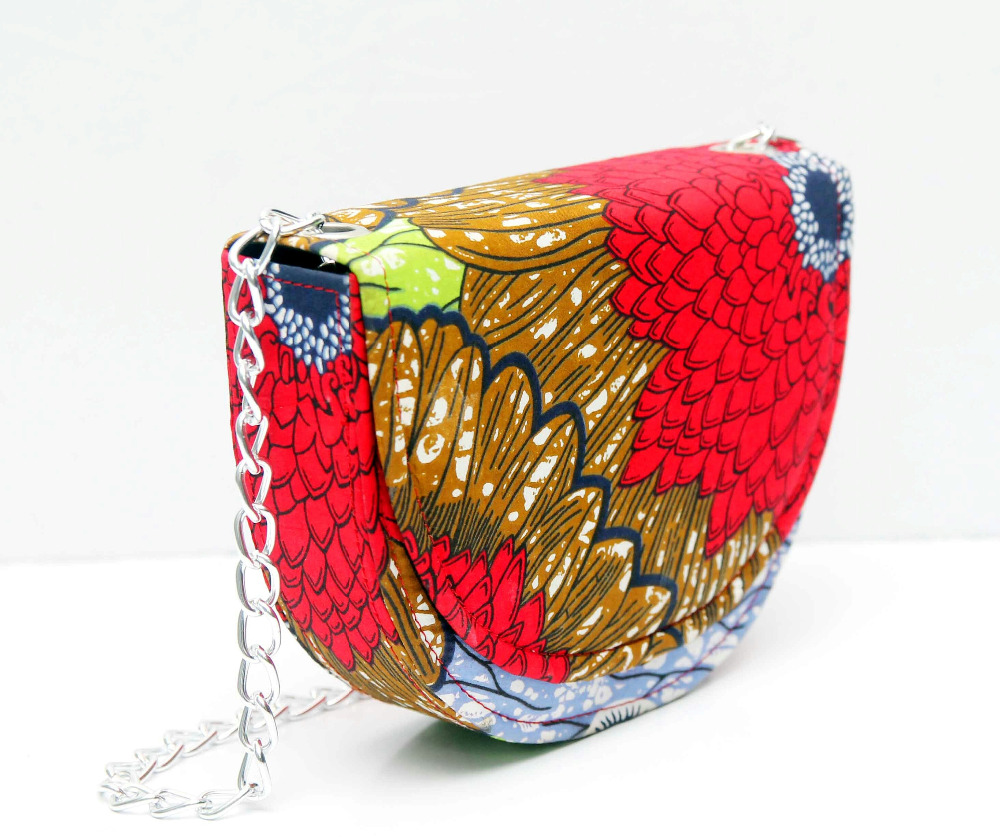african print and beads bags