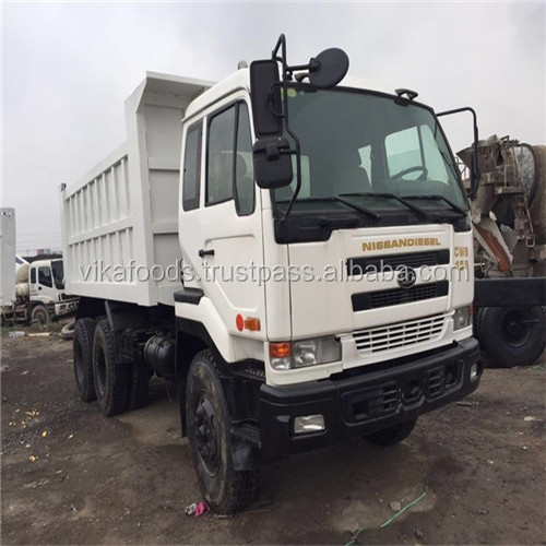 used 25t Nissian dump truck Japan original L6 for sale