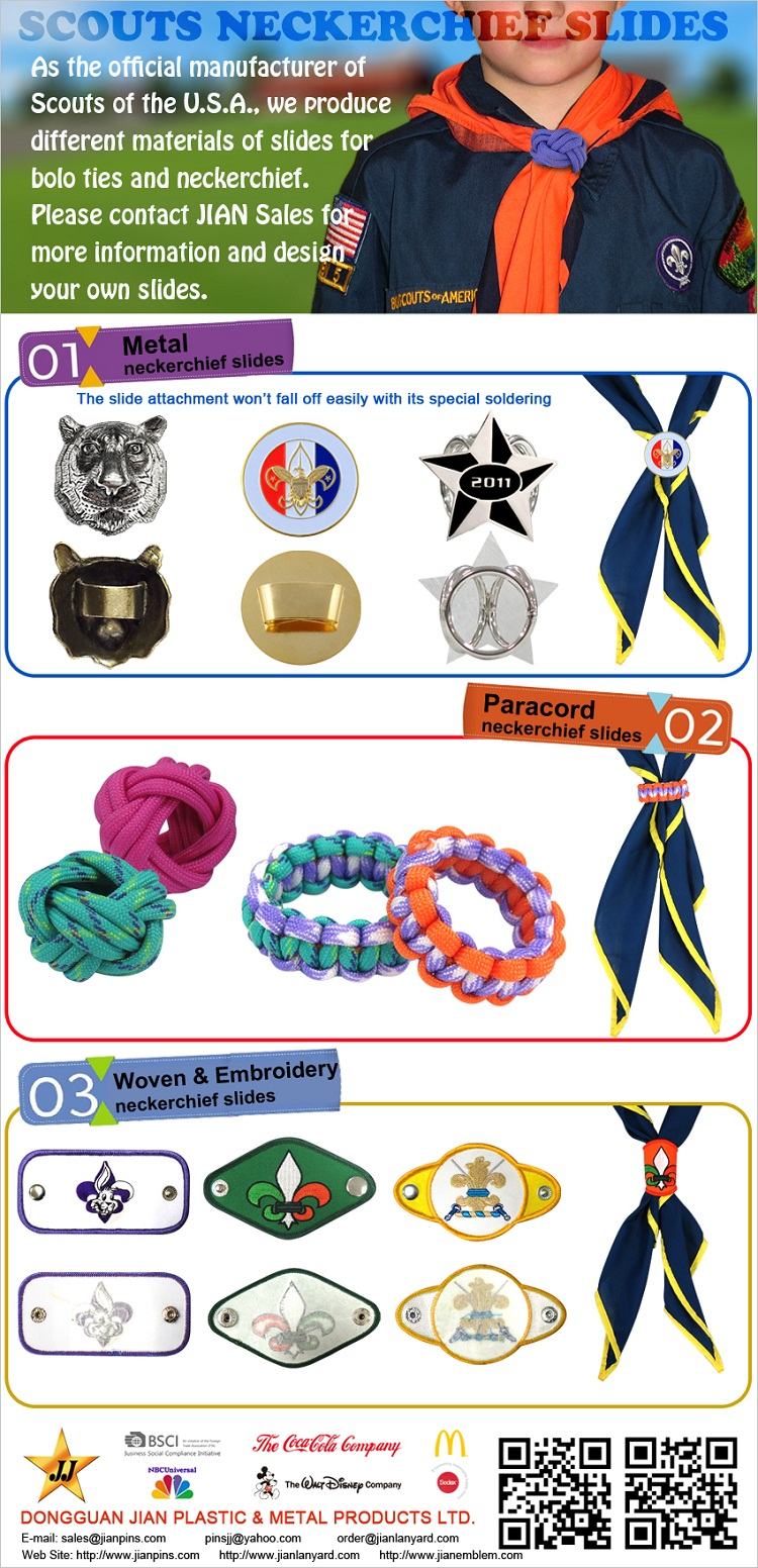 Wholesale Scouts Scarf Woggles Neckerchief Slides From Reputed China Manufacturer