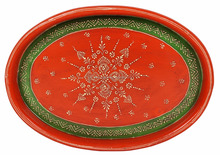 Handmade Serving Dish Platter Meenakari Painted Wooden Tea Indian Wedding Tray