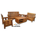Pure Solid Clasic Wooden Sofa Set Natural colour Living Room furniture