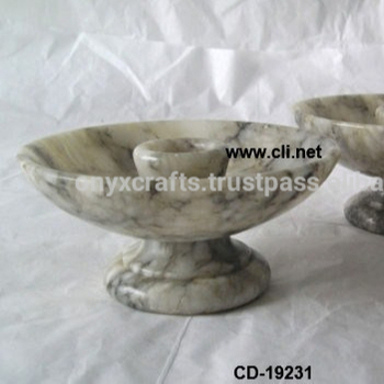 Marble Dish shaped Candle holders
