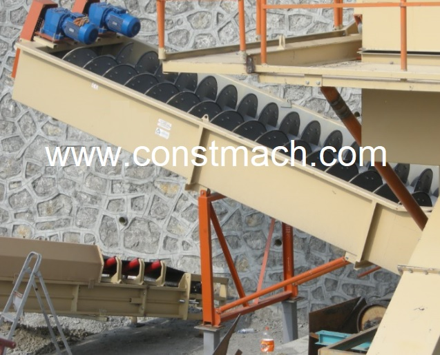 CONSTMACH SAND WASHING SCREW, GRAVEL WASHING MACHINE, MADE IN ITALY