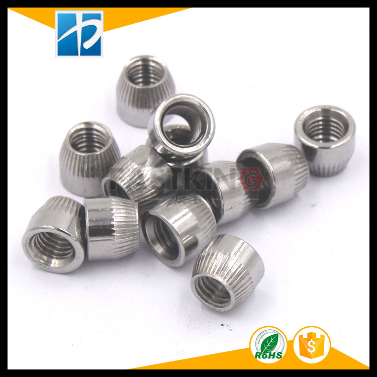Stainless steel 304 Anchor Round Nut Cap Wheel Acorn Conical Tapered Knurl Cone Lock Nut