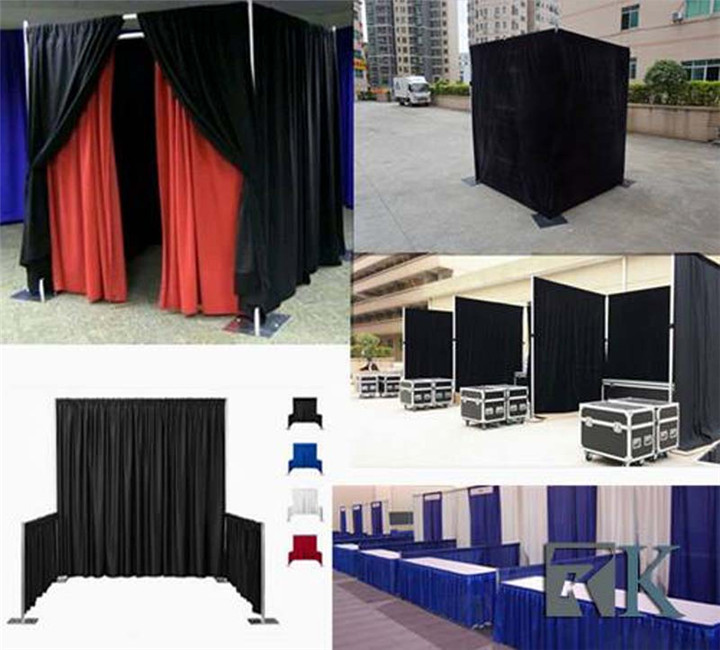 RK adjustable used pipe and drape for sale telescopic pipe and drape photo booth