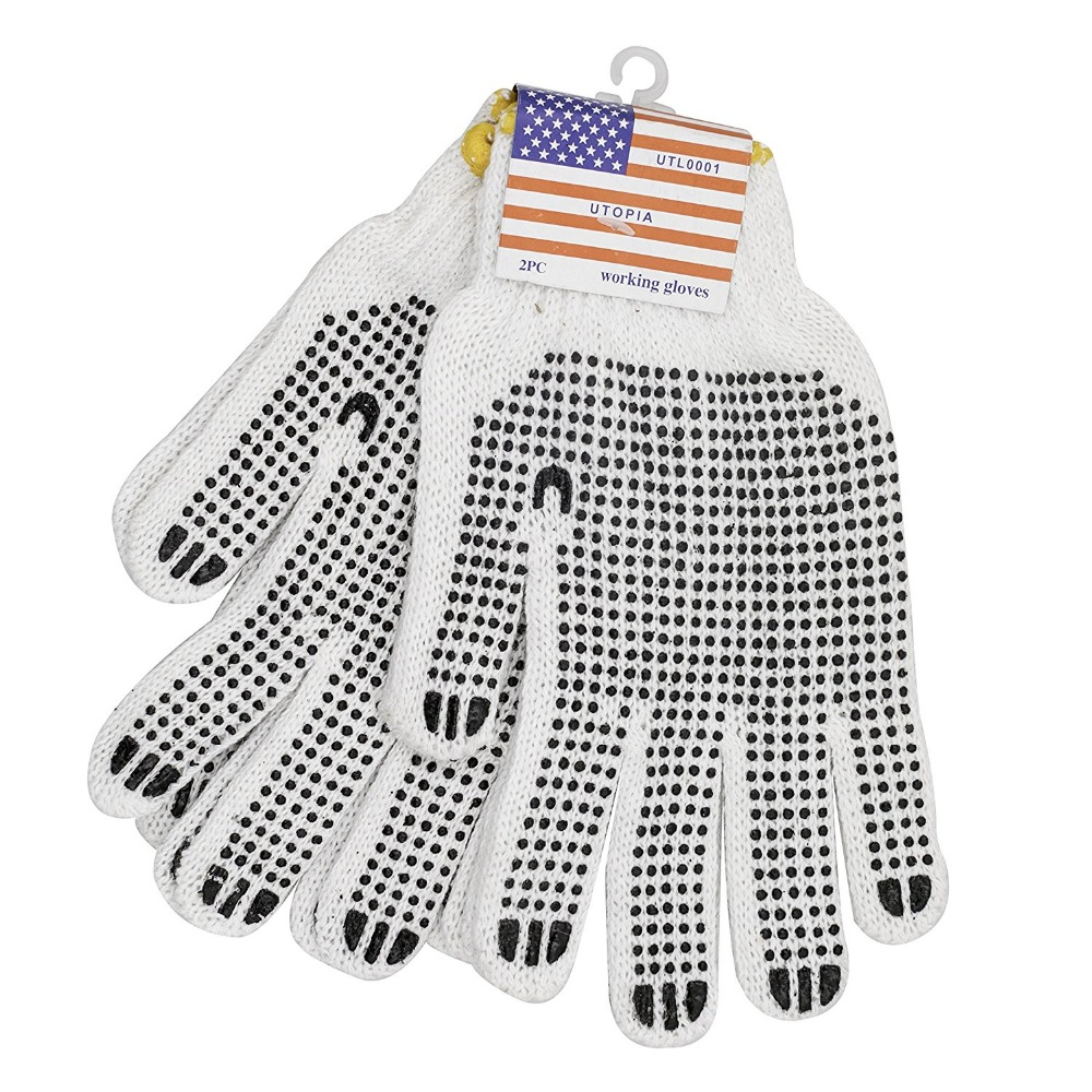 Hub Special, Construction Safety PVC Dotted Working Gloves (50 Pairs)