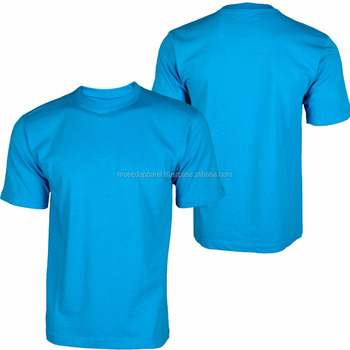100% Cotton Round Neck Sky Blue T-Shirt