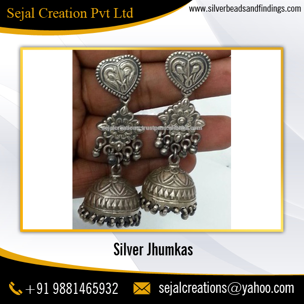 Wholesale Indian Oxidized Ethnic Silver Earrings
