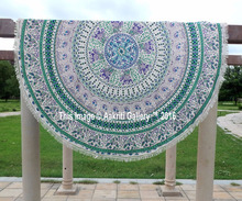 Wholesale Round Mandala Beach Indian Handmade Hippie Indian Mandala Round Beach Towel Throw Rug Boho Tapestry Yoga Mat 72""