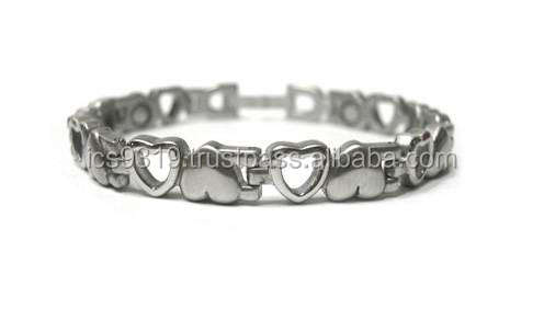 magnetic health bracelet stainless steel tungsten titanium 3 in 1 4 in 1