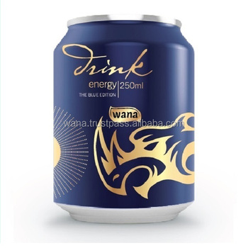 SOFT DRINK CAN ENERGY DRINK IN 250 ML BLACK CAN