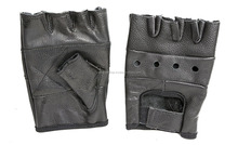Weight lifting gloves Light weight, Leather Fingerless gym Gloves
