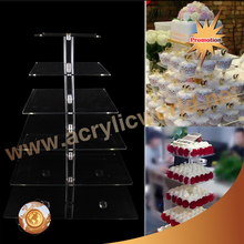 new 3/5/7 tier Clear Round Acrylic eiffel tower cupcake stand/acrylic cake stand Birthday Wedding Party Display