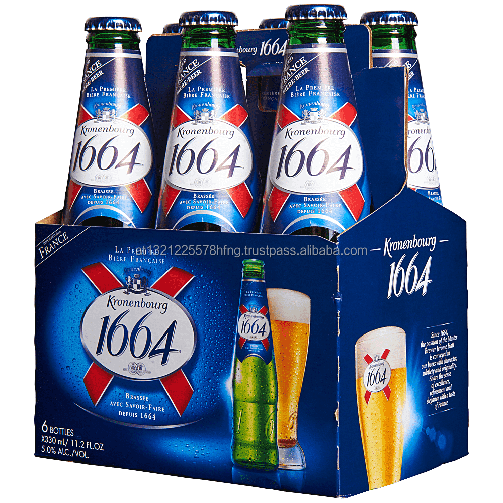 Kronenbourg 1664 Blanc 330ml Beer/ FRENCH BEER