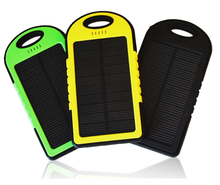 5000mah waterproof hiking camping glamping solar power bank for outdoor activity mountaineering