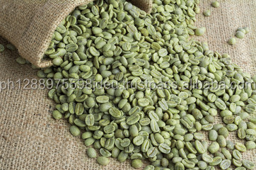 robusta/arabica Green coffee bean