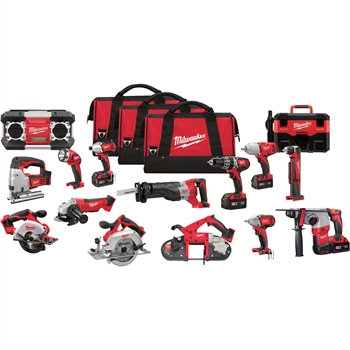 Milwaukee 2695-15 M18 18V Cordless Lithium-Ion 15-Tool Combo Kit 1_Makita