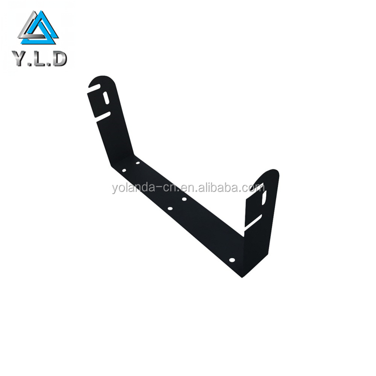 2017 Custom Project High Quality Black Powder Coating Aluminum Stamping U Telecom Bracket
