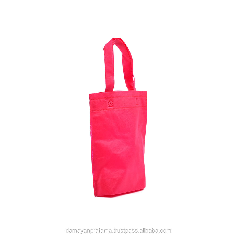 OEM Pink colorful printed fashion promotional gift foldable pp laminated non woven bag
