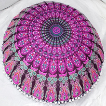 Indian large floor cushion cover mandala pillow cover multi color floor cushion bohemian mandala cushion floor pillow tapestry