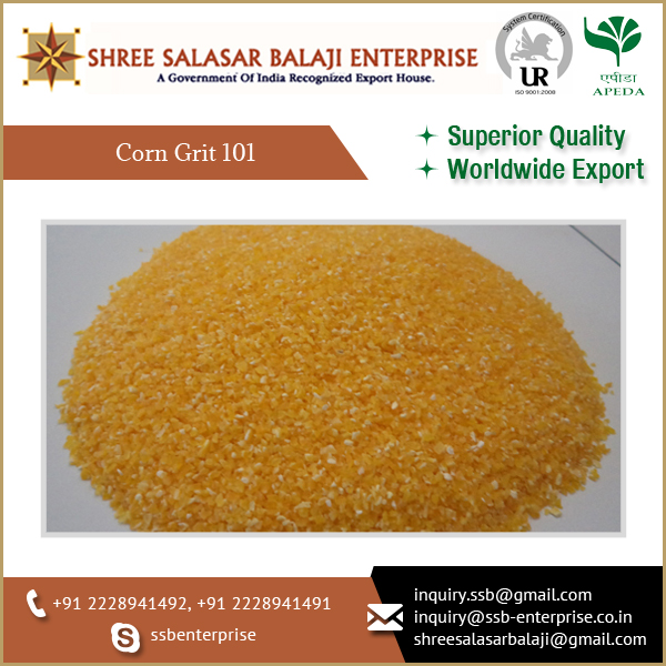 Trusted Supplier of Organic Bulk Corn Grits 101 at Reasonable Price