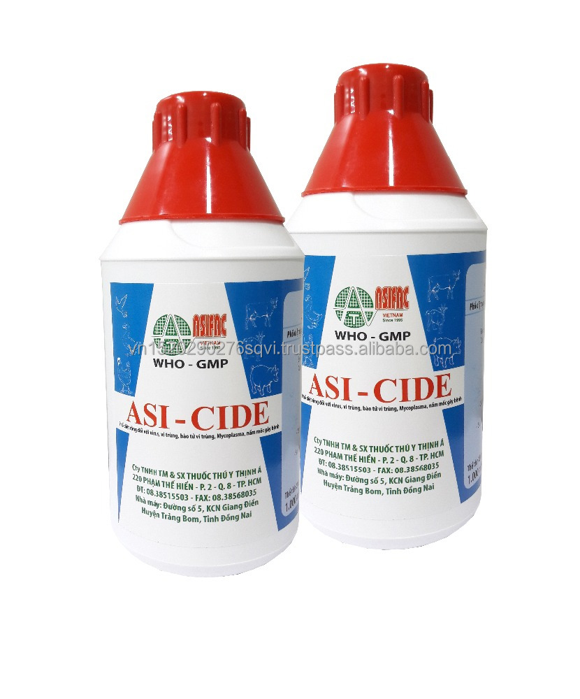 Most effective disinfectant for animal - Benzakonium chloride 10% and Glutaraldehyde 15% for sanitizers